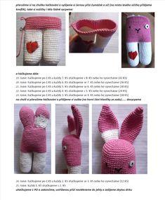 Zajic | Návody na háčkované hračky Crochet Bunny, Crochet Hats, Baby Shoes, Mini, Crochet Rabbit, Knitting Hats, Baby Boy Shoes