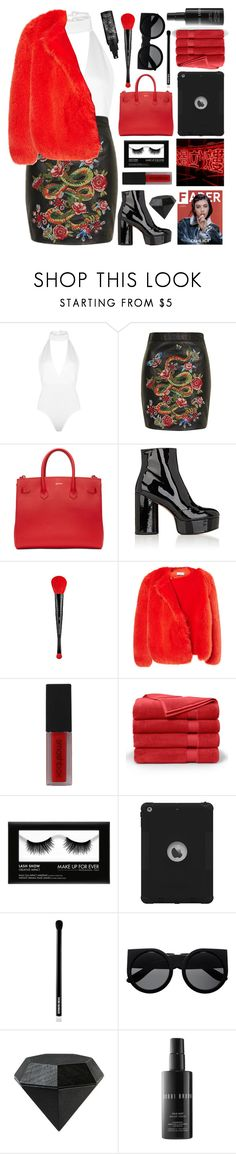 """Untitled #2931"" by tacoxcat ❤ liked on Polyvore featuring Boohoo, Topshop, Off-White, Marc Jacobs, Sephora Collection, Preen, Smashbox, Brooks Brothers, Charli and Edward Bess"