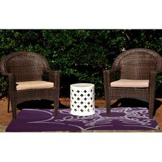 The Holiday Aisle Web Art Holiday Print Purple Outdoor Indoor/Outdoor Area Rug Rug Size: 2' x 3'