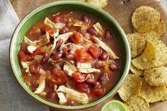 Mexican chicken soup with avocado salsa