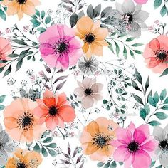 Explore and buy thousands of royalty-free stock seamless repeat print, pattern and textile designs from the world's largest online collection of textile Textile Prints, Textile Patterns, Print Patterns, Floral Prints, Textured Background, Paper Background, Floral Pattern Wallpaper, Pattern Bank, Surface Pattern Design