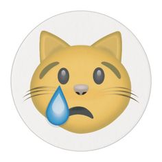 Crying Cat Face Emoji Edible Frosting Rounds
