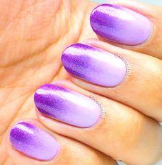 Violet Gradient and Grid Nails Great Nails, Long Nails, Nail Care, Manicure, Finger, Nail Designs, Nail Polish, Joy, Nail Bar