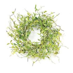 Melrose International 20-Inch Diameter Spring Greenery Wreath by Melrose Inter. $35.63. Polyethylene. Suitable for inside decorating or outside in protected areas. The soft green colored leaves match any decor colors. Delicate soft design adds texture and color to your decorating. 20-Inch diameter soft green greenery wreath.