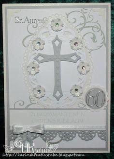"Karins Kreativstube: Diamantenes Ordensjubiläum ""Sr. Aurea"" weiß/hellgr... Symbols, Mirror, Home Decor, Gold Weddings, Birthday, Cards, Creative, Decoration Home, Room Decor"