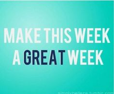 Have a great week ahead!