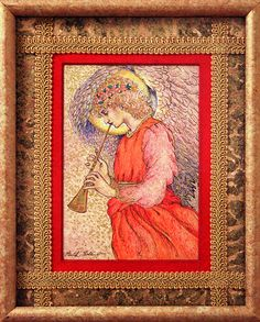 Angel Playing a Flageolet. Drawing and photo by Faith Goble, faith goble/Flickr.