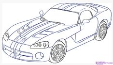 Dodge Viper Coloring Page – Smile Images Inside Out Coloring Pages, Race Car Coloring Pages, Nemo Coloring Pages, Online Coloring Pages, Coloring For Kids, Simple Car Drawing, Drawing For Kids, Paw Patrol, Mustang Drawing