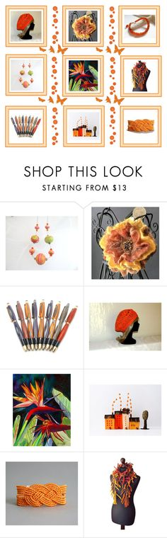 """""""Orange gifts"""" by keepsakedesignbycmm ❤ liked on Polyvore featuring jewelry, accessories and decor"""