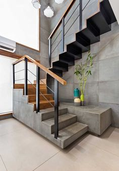 Modern Staircase Design Ideas - Stairs are so common that you don't provide a second thought. Have a look at best 10 instances of modern staircase that are as stunning as they are . House Design, Rustic Staircase, Interior Design, Interior Remodel, Home, Staircase Decor, Modern Staircase, Interior, Villa Design