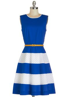 Homemade Pie Swap Dress. Just like your wild blueberry pies, youre famous for your sweet sense of style as well, and you can show off both as you trade homemade sweets in this ModCloth-exclusive dress by Bea  Dot. #blue #modcloth