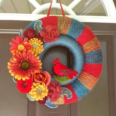 This colorful double wreath sold instantly!