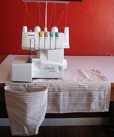 Scrap catcher for the serger ... beats using those trays that come with the machine (mine keeps falling off).