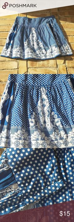 """Kimchi Blue polka dot and floral skirt Summer-ready flirty Kimchi Blue polka dot and floral skirt with side zipper closure. Measurements: waist 15"""" and length 18"""" Would look great paired casually with a white tee and flip flops or dressy top and heels.  *prices are negotiable Kimchi Blue Skirts"""