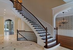 foyers   Photos of Luxury Home Foyers by Heritage Luxury Builders