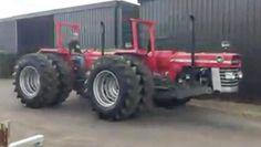 @farm_machinery Double #Masseyferguson 185 Antique Tractors, Vintage Tractors, Logging Equipment, Heavy Equipment, Agriculture Tractor, Farming, Big Tractors, Heavy And Light, Classic Tractor