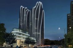 MAD Architects Unveil Mountainous Skyscrapers for Beijing's Chaoyang Park