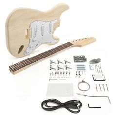Know a guitar lover who has it all? Get them a build your own guitar kit! One of many models, the LA Electric Guitar DIY Kit has all of the guitar hardware and components you need! Learn Bass Guitar, Guitar Diy, Bass Guitar Lessons, Music Guitar, Guitar Chords, Acoustic Guitar, Music Lessons, Beginner Electric Guitar, Electric Guitar Kits