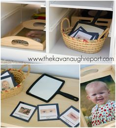 The Kavanaugh Report: Biology for Montessori Toddlers -- Self Discovery Basket with Printable Montessori Playroom, Montessori Elementary, Montessori Preschool, Preschool Activities, Montessori Infant, Work Activities, Maria Montessori, Infant Toddler Classroom, Toddler Play