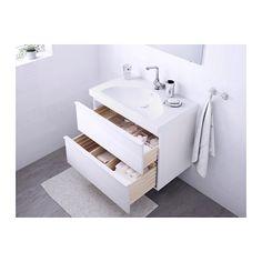 "GODMORGON / EDEBOVIKEN Sink cabinet with 2 drawers - high gloss white, 31 1/2x19 1/4x25 1/4 "" - IKEA"