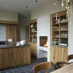Haard in de keuken