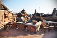 View on Durbar Square from the roof terrace - http://www.cosynepal.com/accommodations/durbar-squarehouse/