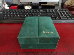 Genuine Bulova Gold Watch Case w/ Original Owners Guide and Original Receipt! #Bulova