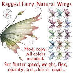 ragged fairy wings