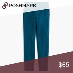 "J. Crew Martie Bi-Stretch Cotton Pants NWT. J. Crew Martie Bi-Stretch Cotton Pants in India Blue. Waist 15"". Rise 9.5"". Inseam 25"". J. Crew Pants"