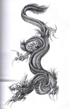 Drachen Tattoo Vorlage