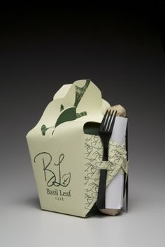 Basil Leaf Cafe: Packaging Redesign by Samantha Levine, via Behance