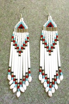 Native American Beaded Earrings. $14.00, via Etsy.