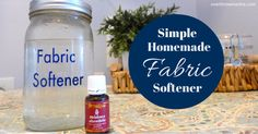 It's so easy to make your own fabric softener and it really works, too!