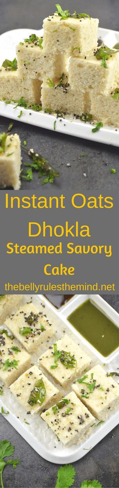 Instant Oats Dhokla-
