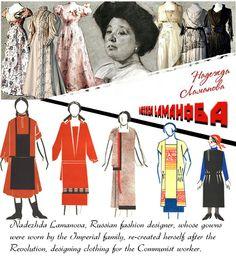 The transformation of the work of fashion designer, Nadezhda Lamanova. Back Stitches blog