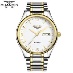 64.58$  Buy here - http://ali6fs.worldwells.pw/go.php?t=32782283927 - Famous Brand Watches GUANQIN Men Watches 2016 Japanese Movement Waterproof Mechanical Watches Male Luxury Automatic Clock 64.58$