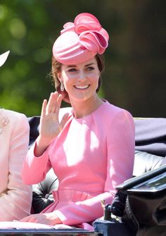 Catherine Duchess of Cambridge attends the annual Trooping The Colour parade at the Mall on June 17 2017 in London England