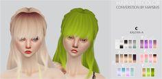 ❀ฺ TS4 Hair38 Recolor | Sims 4 Updates -♦- Sims Finds & Sims Must Haves -♦- Free Sims Downloads