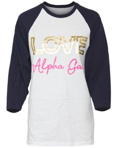 """Love the Gold and Pink. Could say, """"Love Kappa Chapter"""""""