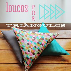 triangulos, almofadas, almofadas triangulares, Poppellina