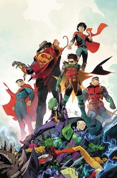 Adventures of the Super Sons (of – Another Universe - Comics Dc Comics Heroes, Arte Dc Comics, Dc Comics Characters, Comic Book Artists, Comic Books Art, Comic Art, Deathstroke, Marvel Girls, Teen Titan