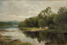 John Clayton Adams 1840 - 1906 On The Derwent Oil on canvas