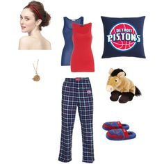 Detroit Pistons fan at home, created by oscarbound on Polyvore