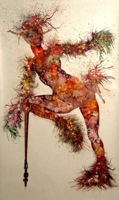 Wangechi Mutu, She's Egungun Again, 2005. Ink, acrylic, collage