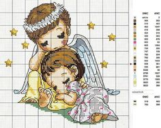Resultado de imagen para patrones de angeles en punto de cruz para imprimir gratis
