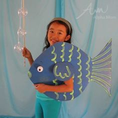 We have a whole series of kids' Under-the-Sea themed costumes for Halloween. Fun and super easy to make.