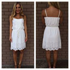 White Flower Scallop Dress 42.99
