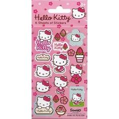 Hello Kitty Flowers Stickers Party Pack of 6 Sheets - Party Loot Bag Fillers