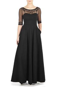 eShakti 1950s Style Long Dress - $99.95 AT vintagedancer.com