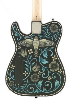 Creston - Sarah Ryan's guitar, Sarah Ryan's artwork Music Guitar, Cool Guitar, Telecaster Guitar, Fender Guitars, Bass Guitar Lessons, Gear Art, Guitar Painting, Guitar Building, Beautiful Guitars
